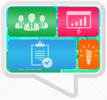 Das Bild beinhaltet eine der Stärken von IfaD: die überdurchschnittliche Beratung und Betreuung bei Services und Software. Daneben eine abstrakte Grafik, ein Puzzle aus Charts, Tabellen und stilisierten Menschen.
