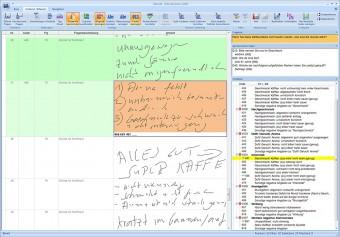 Ein Screenshot aus dem Programm CIScode der Codier-Software zeigt die Möglichkeiten, Handschriften zu lesen, Bilder, Texte und Töne zu codieren.