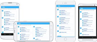 Auf der Abbildung zur Befragungssoftware CIS sind verschiedene Arten von Mobile Devices zu sehen, die für Mobile Research eingesetzt werden.