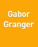 Zu sehen ist ein kleines orangefarbenes Quadrat mit runden Ecken auf dem in weißer Schrift Gabor Granger zu lesen ist. Dieses Quadrat ist ein Button, der zu einem Beispielfragebogen führt.