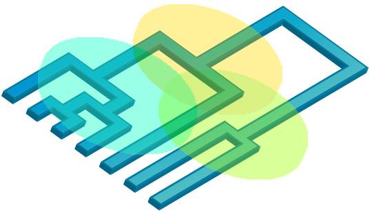 Die abstrakte Grafik zu Clusteranalysen zeigt einen dreidimensionalen Entscheidungsbaum.