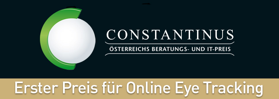 Online Eye Tracking gewinnt Constantinus Award 2017. Zu sehen ist das Logo des österreichischen IT-Preises. Online Eye Tracking jetzt bei IfaD in Hamburg buchen!