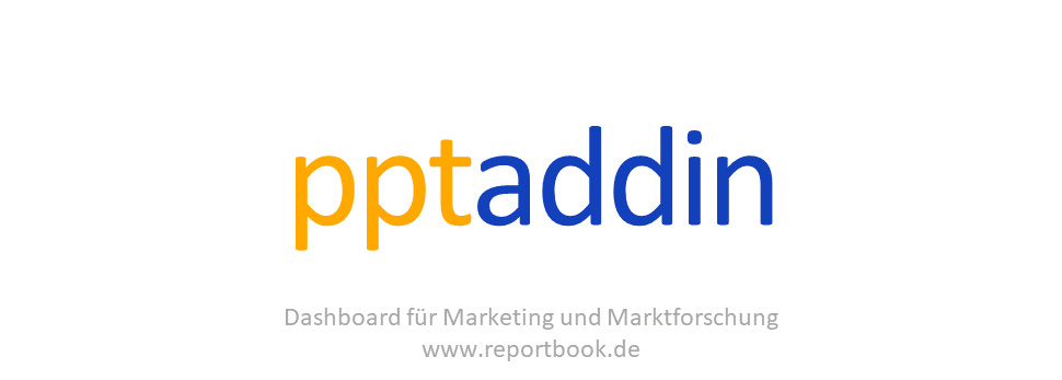 Bestes vom Dashboard reportbook.de für Marketing und Marktforschung .- Add-In für PowerPoint