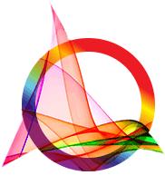 Eine abstrakte Grafik aus einem Kreis und einer Welle weist auf Data Science Services hin
